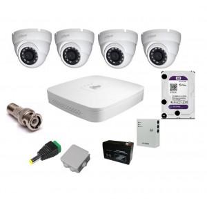 Комплект видеонаблюдения Dahua на 4 наружные камеры на 2 Мп