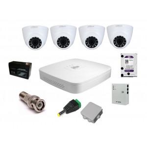 Комплект видеонаблюдения Dahua на 4 внутренние камеры на 2 Мп