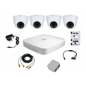 Комплект видеонаблюдения для самостоятельной установки Dahua на 4 внутренние камеры на 2 Мп